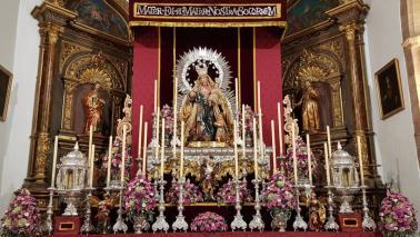 Madrinazgo en la bendición de la Santísima Virgen del Socorro de la Hermandad del Gran Poder de Andújar