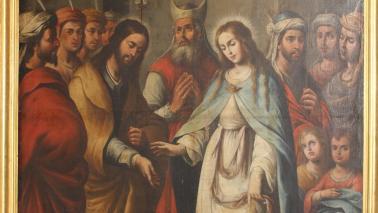 Comienzan los trabajos de restauración de los Desposorios de la Virgen, proyecto subvencionado por la Consejería de Cultura y Patrimonio Histórico