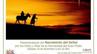 El 14 de diciembre, representación del Belén Viviente de los niños de la Hermandad